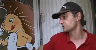 Тодор, който работил в закусвалнята по време на взрива. Кадър: Нова тв