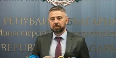 Служебният министър на енергетиката Андрей Живков