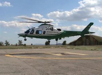Шофьорите са следени и от хеликоптер. Снимка МВР
