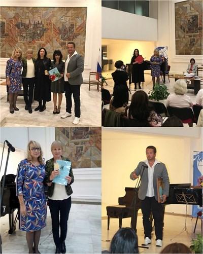 Наградените бургаски авторки, заедно с творците от Северна Македония и Черна гора.