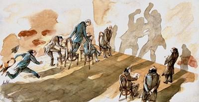 Анри Кулев нарисува политически анализатори - виж как