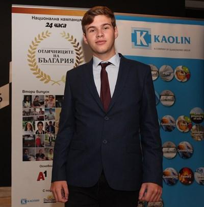 """Антоан е част от втория випуск """"Отличниците на България"""". СНИМКА: АРХИВ"""