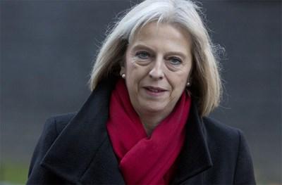 Британският вътрешен министър Тереза Мей произнесе ключова реч за имиграцията. СНИМКА: РОЙТЕРС