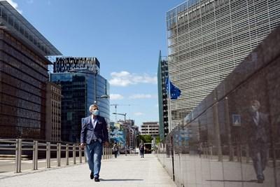 Повечето институции на ЕС в момента са концентрирани в Европейския квартал на Брюксел.   СНИМКА: РОЙТЕРС