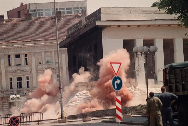 Резултат с изображение за опит да се разруши мавзолеят на Георги Димитров