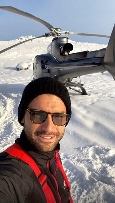 Григор Димитров е на обиколка из ледниците на Исландия. Снимка: Инстаграм