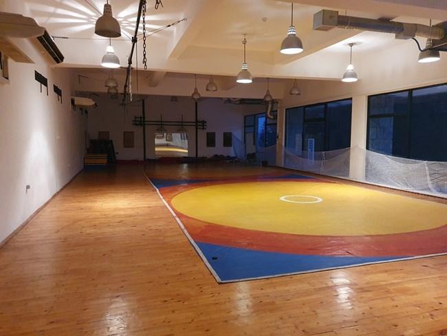 Залата, където са били тренировките на Кубрат Пулев.
