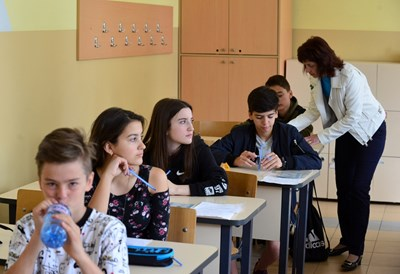 Резултатите от изпитите след 7-и клас трябва да са ясни до 6 юни. СНИМКА: Йордан Симeонов