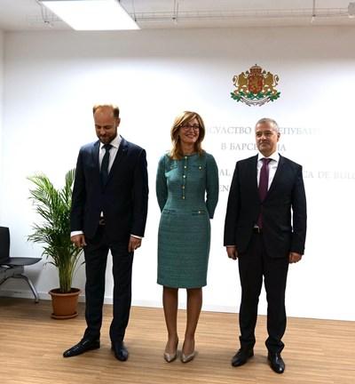 Eкатерина Захариева откри новото генерално консулство в Барселона. СНИМКИ: Министерството на външните работи