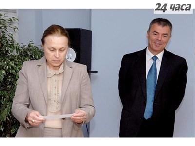 """Времето за усмивки между Сергей Игнатов и Милка Коджабашиева свърши. Снимка Архив """"24 часа"""""""