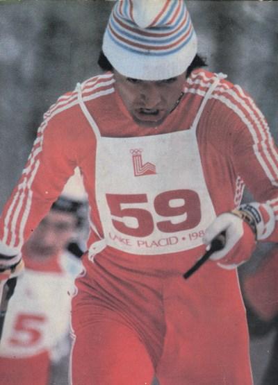 Иван Лебанов лети към бронзовия медал на олимпиадата преди 40 години. СНИМКА: Архив