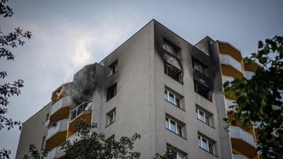 Пожарът е станал в тази сграда в чешкия град. Снимка: EN24