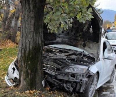 Врачанка си счупи главата след удар в дърво край пътя