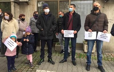 Пациенти с трансплантация излязоха на протест пред Министерството на здравеоапзването. СНИМКА: АВТОРЪТ