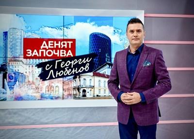 Георги Любенов в студиото на предаването си по БНТ СНИМКА: БНТ