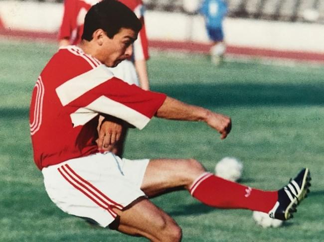 Ивайло Андонов с екипа на ЦСКА като млад играч