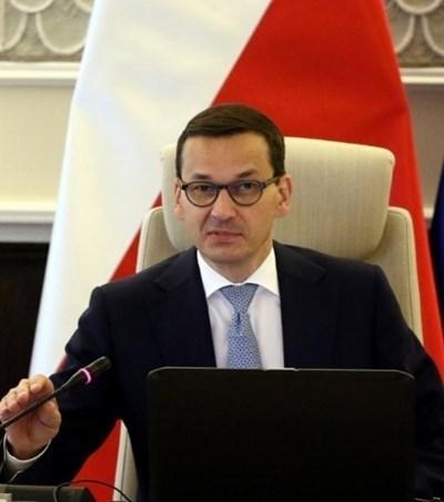 Полският премиер Матеуш Моравецки СНИМКА: РОЙТЕРС