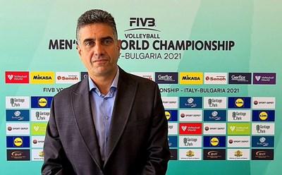 Давид Давидов - вицепрезидент на Българската федерация по волейбол и председател на организационния комитет за световното първенство за мъже до 21 г.