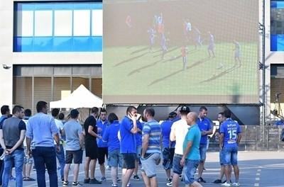"""""""Левски"""" няма да слага видеостена пред стадиона си. Снимка официален сайт на """"Левски"""""""