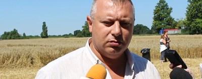 Председателят на Националната асоциация на зърнопроизводителите Костадин Костадинов СНИМКИ: Дияна Райнова
