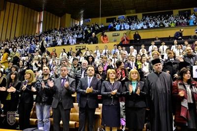 Дворецът на културата и спорта бе препълнен с гости по повод юбилея