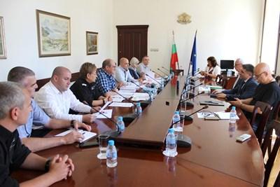 """Кирилов се срещна днес с управителния съвет на Синдикат """"Охрана"""". Снимка министерство на правосъдието"""