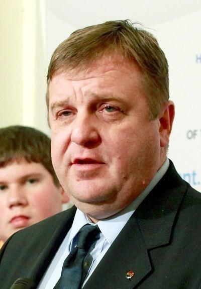 Министърът на отбраната Красимир Каракачанов СНИМКА: Архив