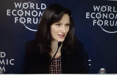 Мария Габриел е на Световния икономически форум в Давос. Снимки представителство на ЕК в България