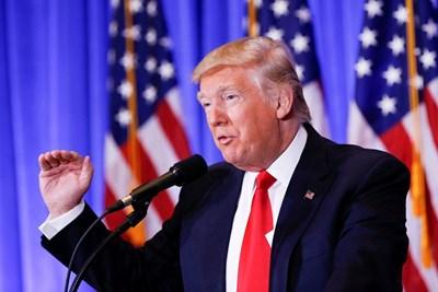 Доналд Тръмп на пресконференцията СНИМКА: РОЙТЕРС