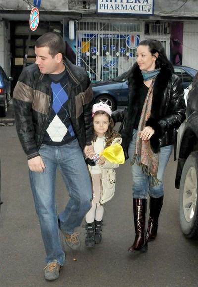 Иван, Вихра и Ава, когато бяха заедно. Снимка: Булфото