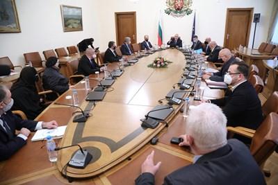 Днешното редовно правителствено заседание СНИМКА: Правителствената информационна служба