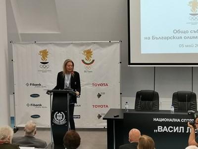 Стефка Костадинова бе преизбрана единодушно за пети мандат като председател на БОК. Снимка Авторът