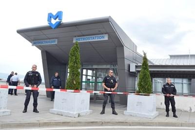 Престъплението бе извършено на последната спирка на метрото, точно до летище София.