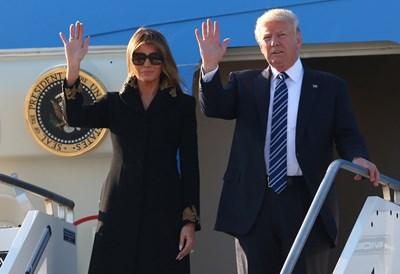 Доналд и Мелания Тръмп пристигнаха в Рим СНИМКА: РОЙТЕРС