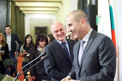 Димитър Главчев и Цветан Цветанов СНИМКИ: Йордан Симеонов