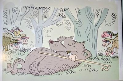 - И вълкът сит, и стадото цяло! - възкликнал вълкът, дояждайки овчаря.