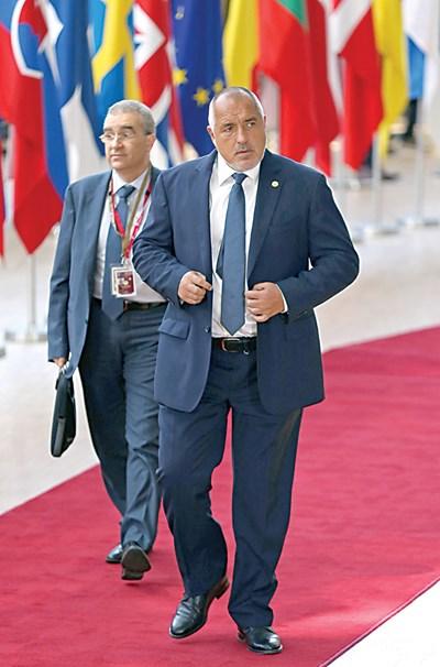 Бойко Борисов иска твърда дата за приемането ни в чакалнята и в банковия съюз. СНИМКА: РОЙТЕРС