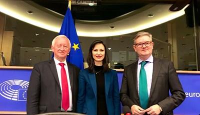 Мария Габриел на конференция в Брюксел СНИМКА: Представителство на ЕК в България