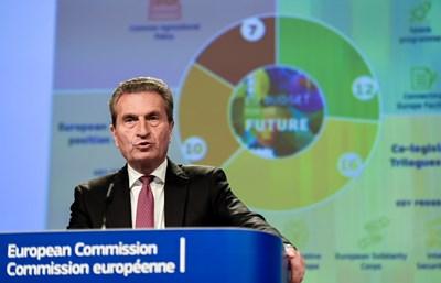 Еврокомисарят по бюджета Гюнтер Йотингер СНИМКА: РОЙТЕРС