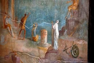 При реставрацията на Помпей откриха невиждани стенописи и надписи (Снимки)