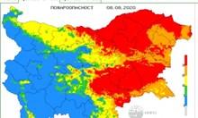 Опасност от пожари в 15 области на страната днес