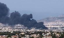 Голям пожар затвори магистралата между Атина и Солун (Видео)
