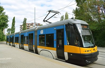 """Трамвай в столицата СНИМКА: """"СТОЛИЧЕН ЕЛЕКТРОТРАНСПОРТ"""""""