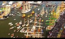 Пристанището в Амстердам (таймлапс)