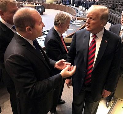 Румен Радев и Доналд Тръмп разговарят в Брюксел. СНИМКА: ПРЕЗИДЕНТСТВО