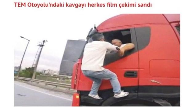 Екшън в Истанбул! Наш тираджия блъска кола и избяга, шофьорът го настига, скача на отворения прозорец в движение и го засипва с юмруци