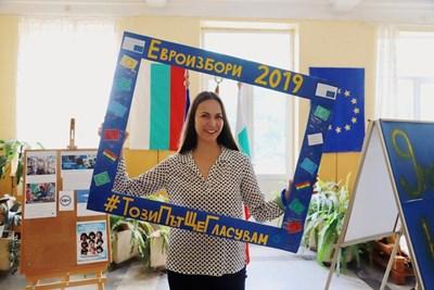 Ева Майдел в Димитровград СНИМКИ: пресцентърът на ГЕРБ