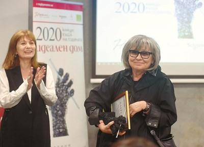 "Гл. редактор на ""Идеален дом"" Таня Червенкова (вляво) и арх. Радина Гешева. СНИМКА: ВЕЛИСЛАВ НИКОЛОВ"
