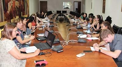 Чуждестранните стажанти по време на академичните им занимания във ВТУ