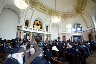 """Поне 90% от присъстващите на обсъждането на Истанбулската конвенция са """"против"""". СНИМКА: Йордан Йорданов СНИМКА: 24 часа"""